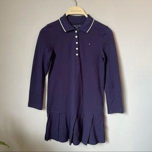 10Y Tommy Hilfiger long sleeve dress navy blue